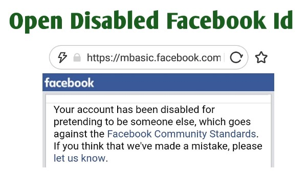 How To Open Disabled Facebook Account - THE GONDAL